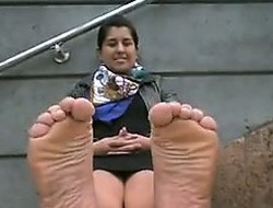 Indian Hotty Teasing Her Feet