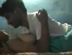 Chubby indian cutie with big mambos and bushy snatch has sex with her bf in her bedroom