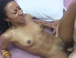 Hot indian wife acquires her muff filled with big dick